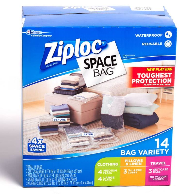 Ziploc Space Bag Vacuum Space Clothes Saver Set