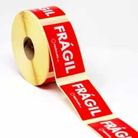 (10x) Red Sticker Fragile Adhesive - (10 x 5 cms)