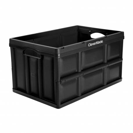 Clevermade Clevercrates Collapsible Storage Container, 46 Liter Solid Utility Crate, Royal Blue