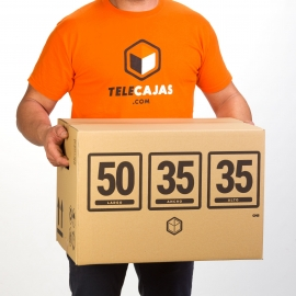 Standar Size Cardboard Removal Boxes 50x35x35