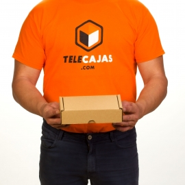 TeleCajas® | 18x10x5 cms | (50x) Small Self Assembly Box