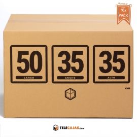 TeleCajas® |(10x) Moving Boxes 50x35x35 cms (Standar Size)