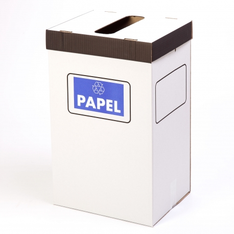Bin cardboard boxes with cover