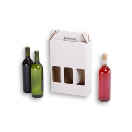 Wine Bottles packaging self-assembly for 3 pcs