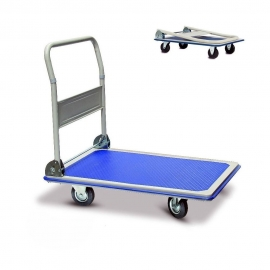 Folding Handle Platform Hand Truck Cart, Suports 150 kg