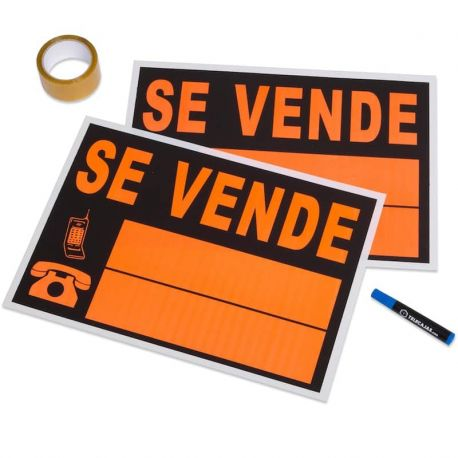 Poster Sale House (2 pcs) + Sealing tape + Marker