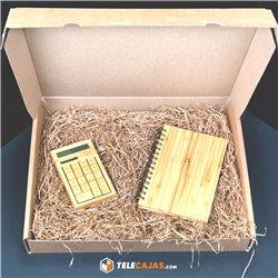 Caja para Lote Navidad regalo (para botellas, chacinas, quesos...)