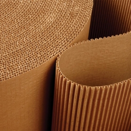 Roll of Coarrugated Paper (wavy) (90 cms x 25 Mts)