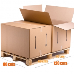(4x) Caixa de Cartão Baúl Tamanho Gigante 80x60x55 cms | 4 pcs