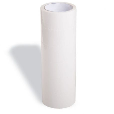 (x6) Sealing Tapes   Rol: 66 m x 50 cms   Color: White